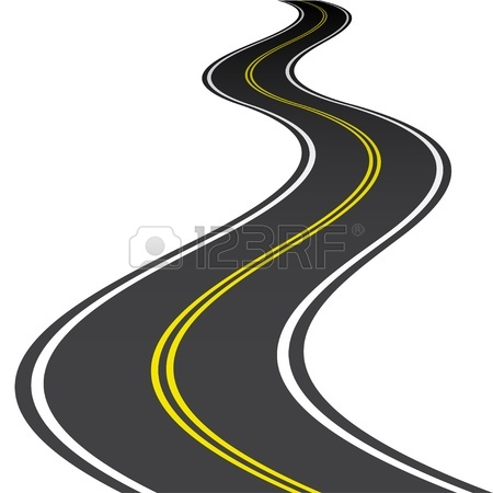 Winding Highway Clipart.