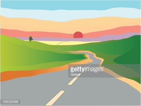winding road Clipart Image.
