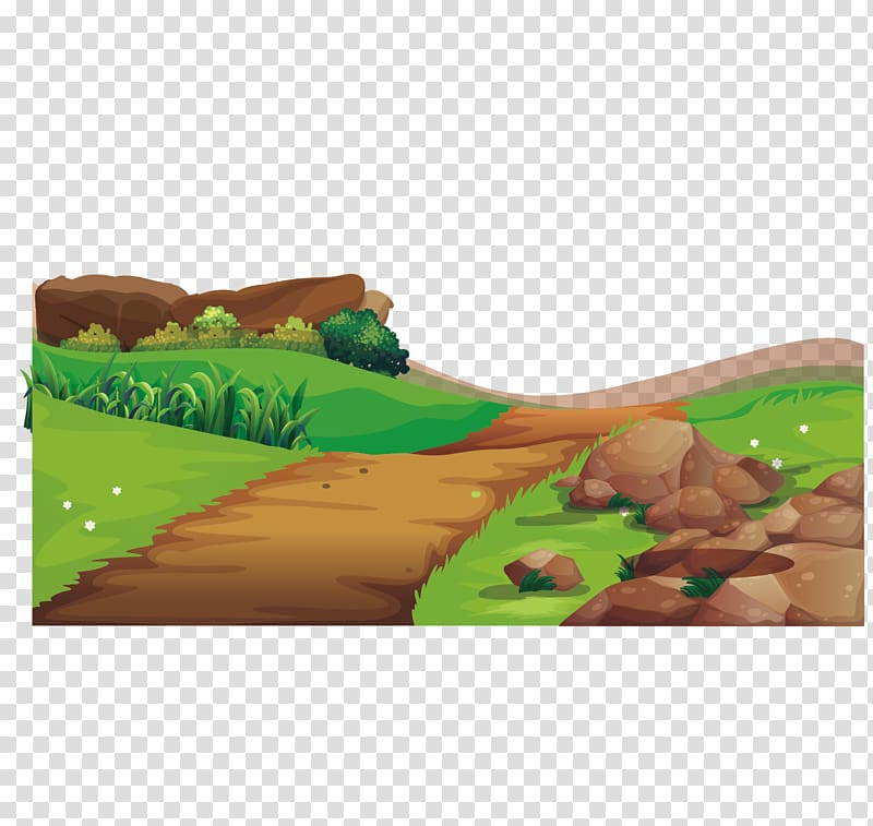 Scenery of plain field illustration, Adobe Illustrator.