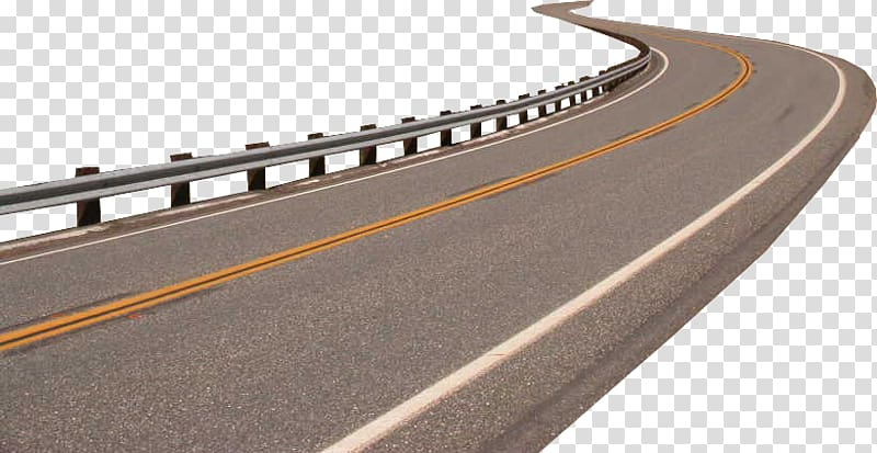 Road Highway Guard rail, road transparent background PNG.