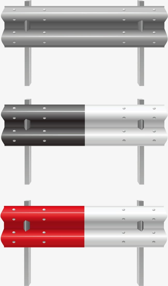Highway guardrail PNG clipart.