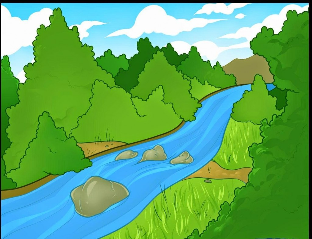 Clipart Of River.