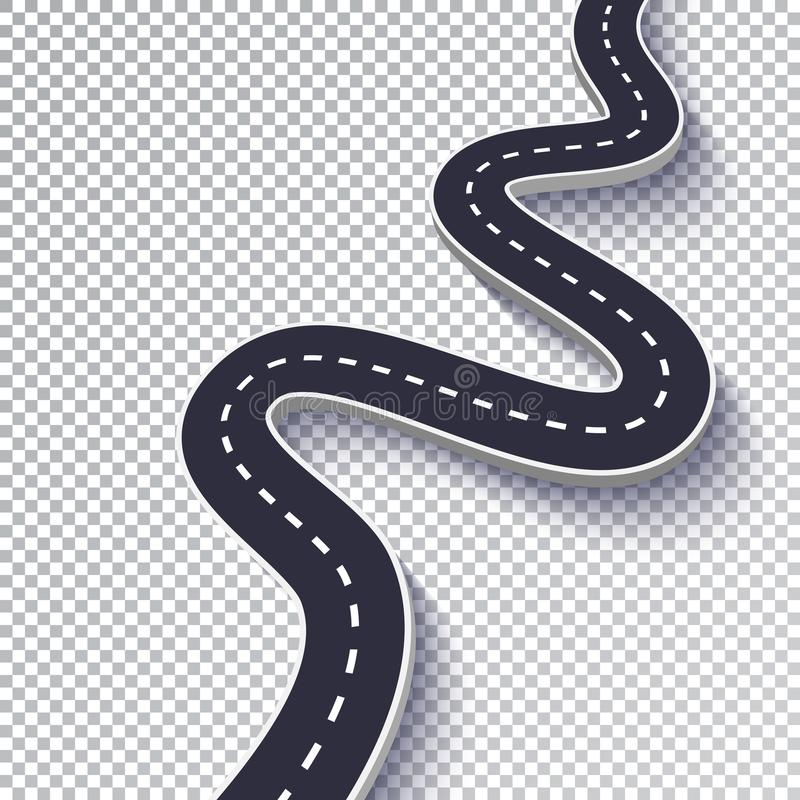 Winding Road Stock Illustrations.