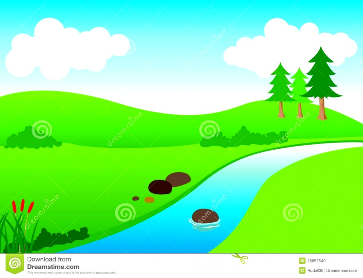 Winding River Clipart Black And White.