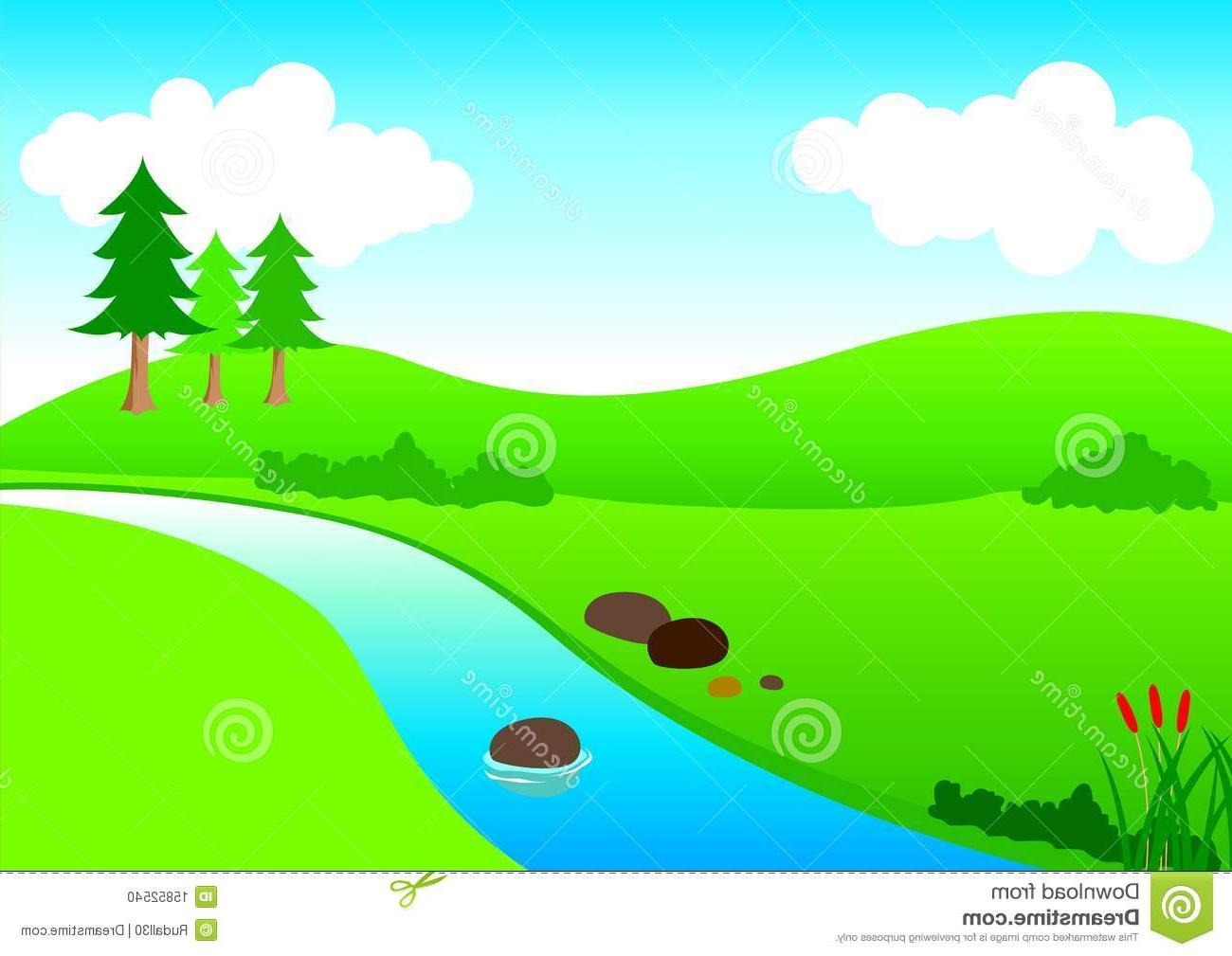 winding river shape clipart #5