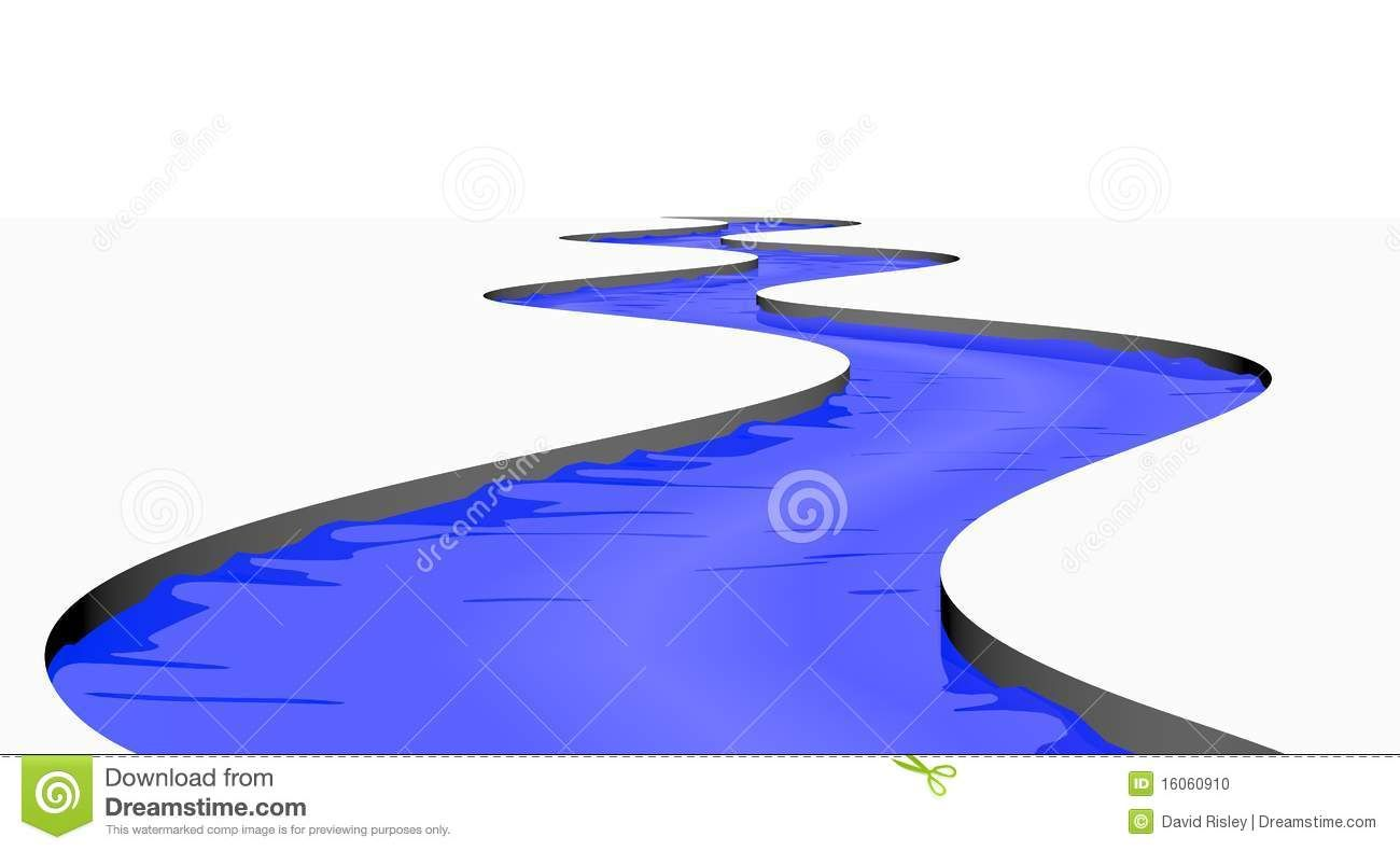 Winding River Drawing.