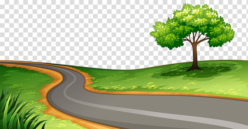 Winding road transparent background PNG clipart.