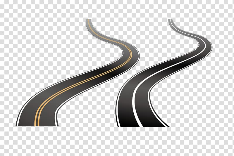 Road, Winding road transparent background PNG clipart.