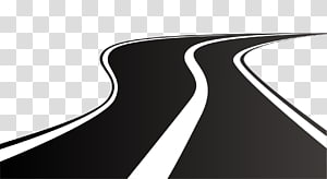 Black and white road illustration, Road Highway , winding.