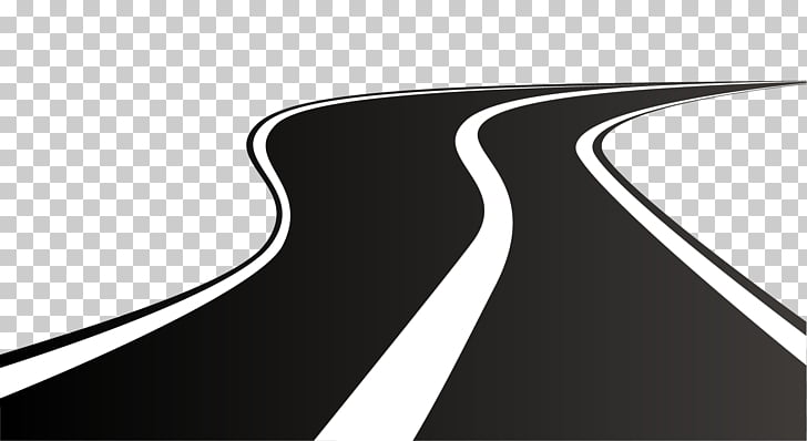 Road Highway , winding road, black and white road.