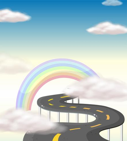 A long winding road going to the rainbow.