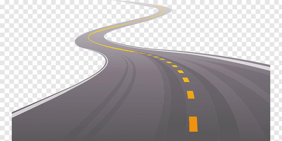 Winding road illustration, Road Asphalt Illustration.
