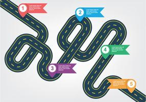 Winding Road Free Vector Art.