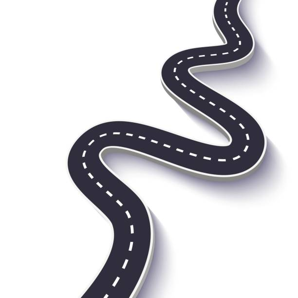 Best Winding Road Illustrations, Royalty.