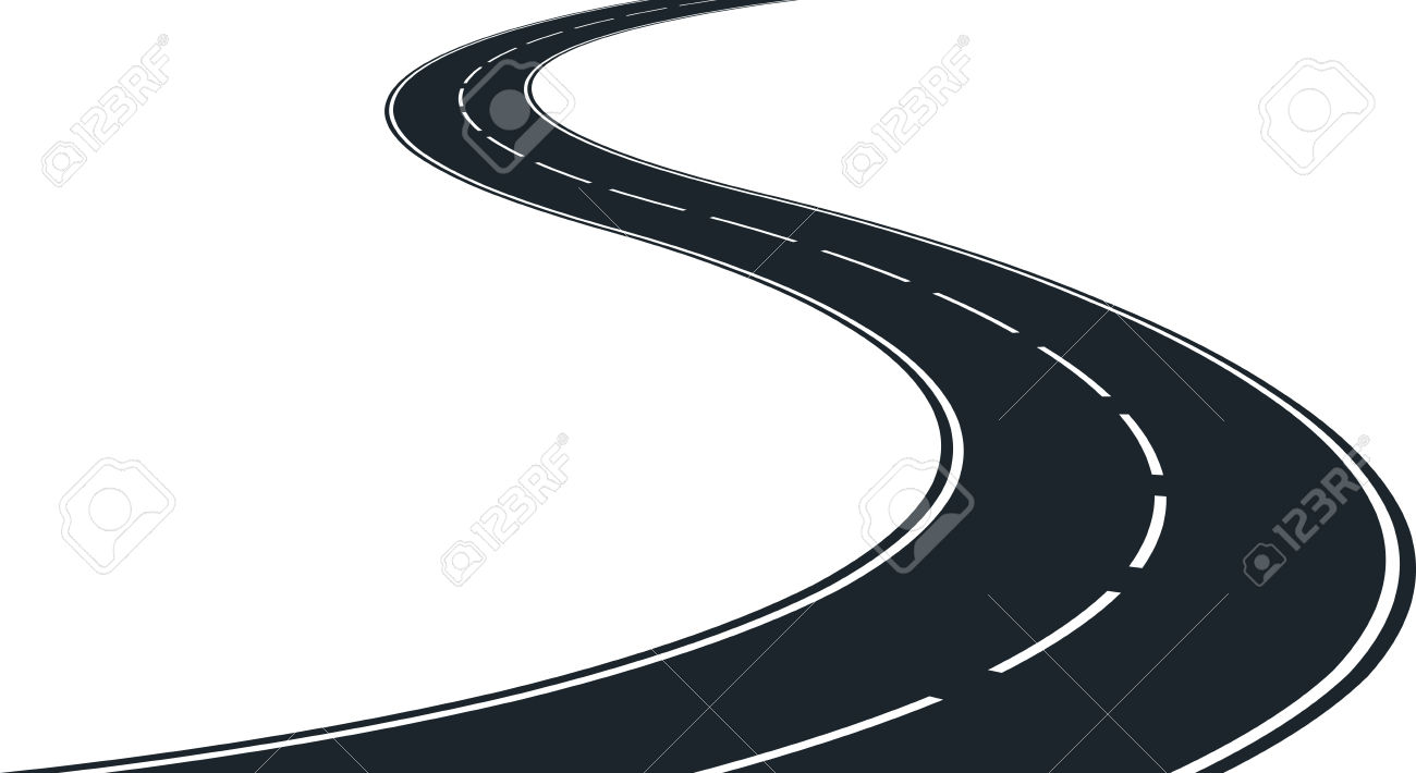 55+ Winding Road Clipart.