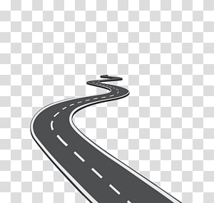 Highway Road, Winding road transparent background PNG.