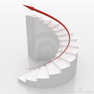 3d Spiral Stairs Stock Illustrations.