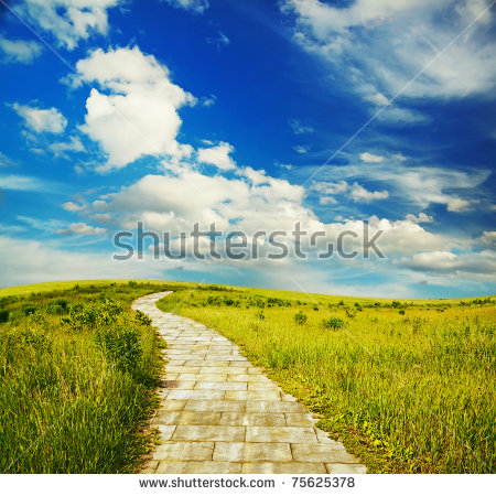 Brick Road Stock Images, Royalty.