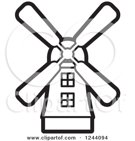 Clipart of a Windmill.