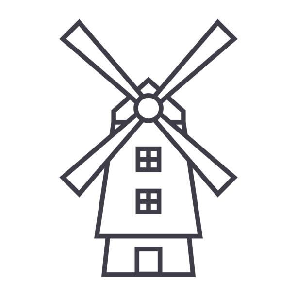 Best Dutch Windmill Illustrations, Royalty.