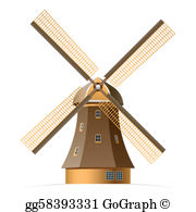 Windmill Clip Art.