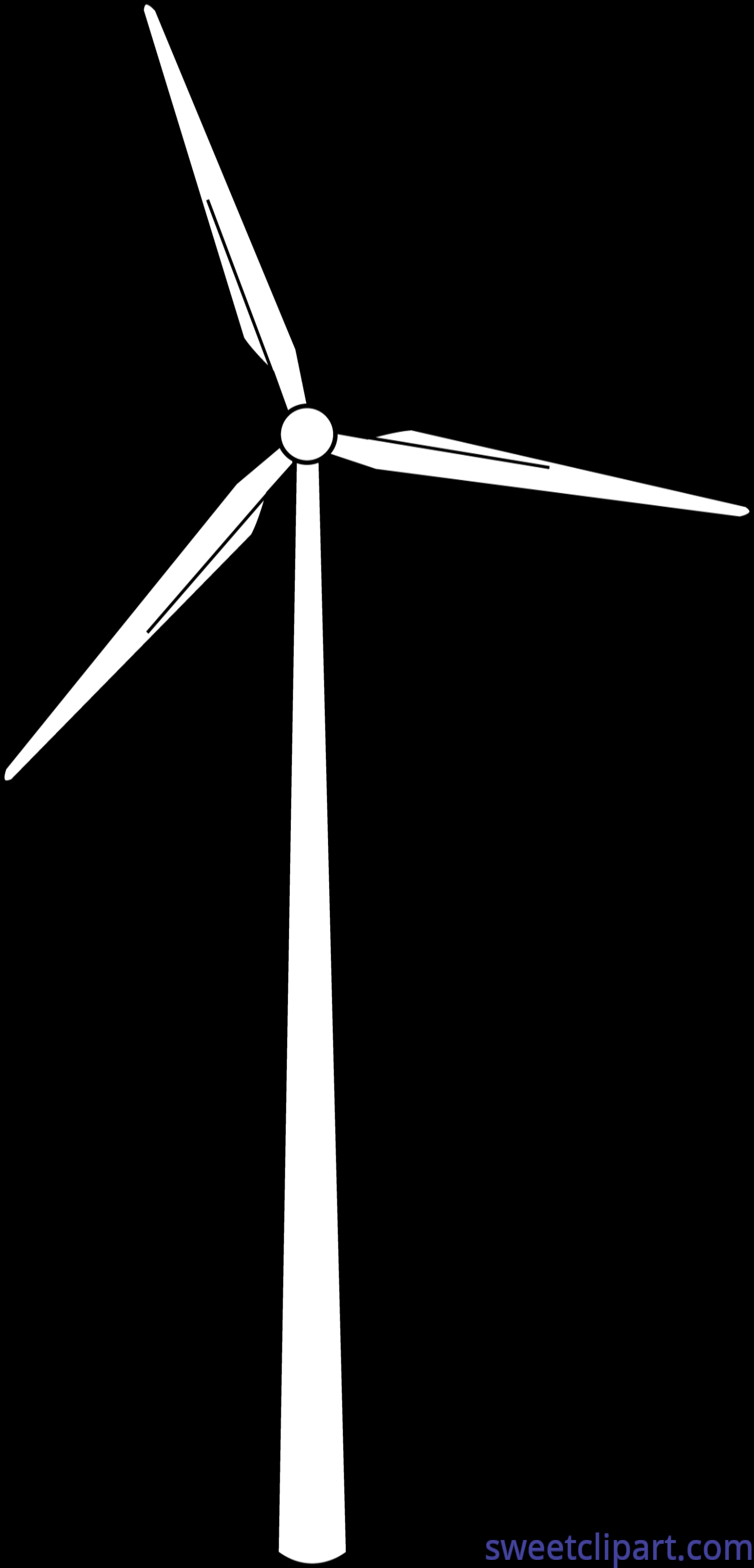 Windmill Lineart Clip Art.