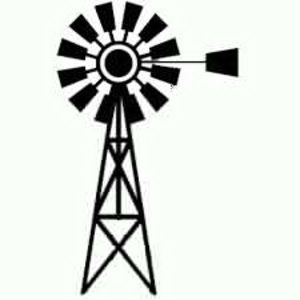 Windmill Black And White Clipart.