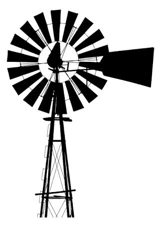 Windmill black and white clipart 1 » Clipart Portal.