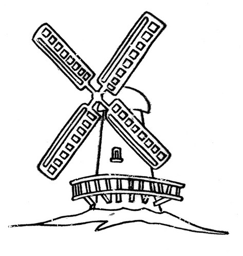 Windmill clipart black and white 3 » Clipart Portal.