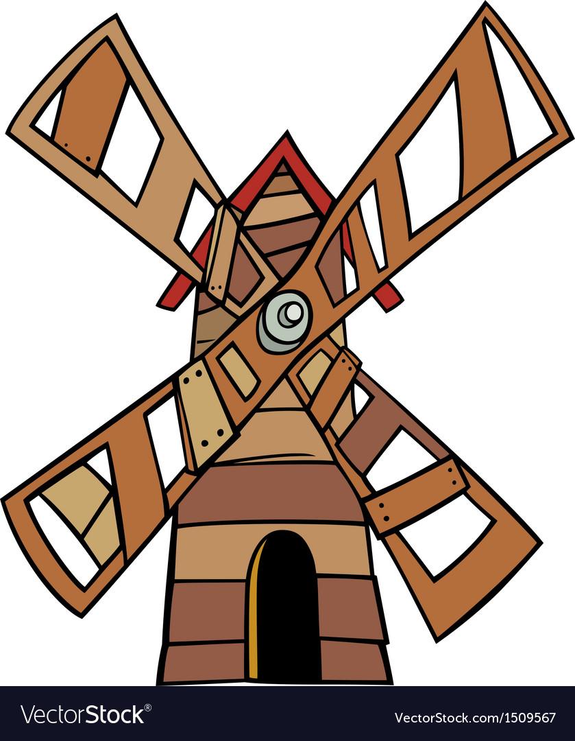 Windmill clip art cartoon.