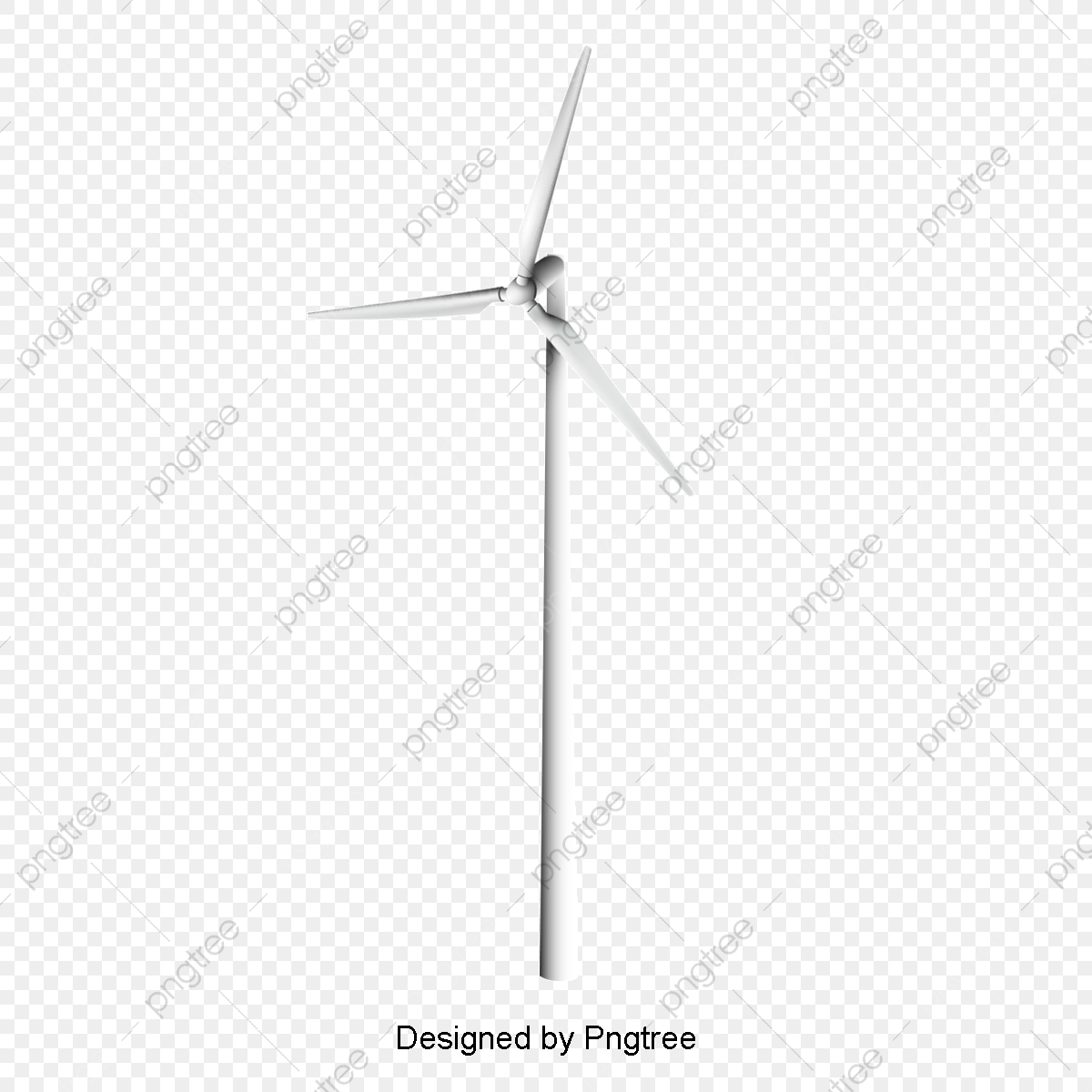 Vector White Windmill Power, Vector, Wind Power, Power Windmill PNG.