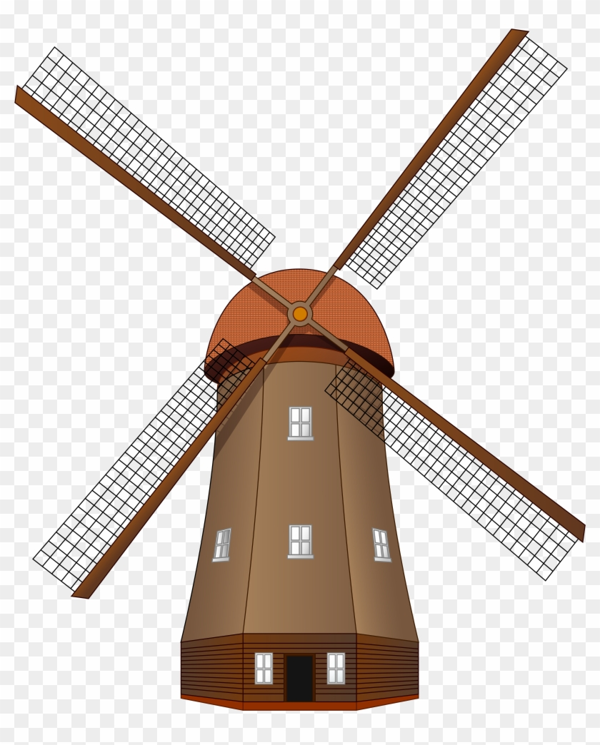 Windmill Large Png Clip Art.