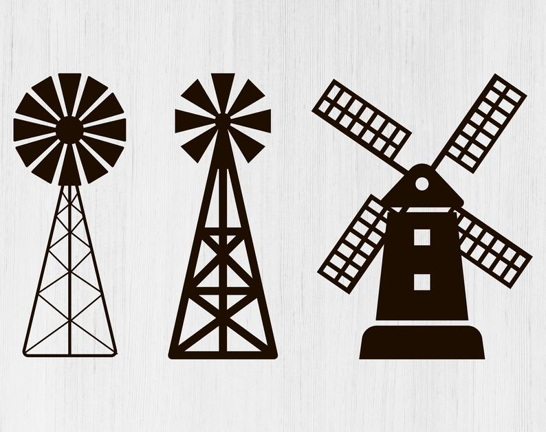 Farm windmill svg Farm svg Farm windmill png Farm windmill clipart Farm  windmill for Cricut Windmill silhouette Farm windmill svg files svgs.