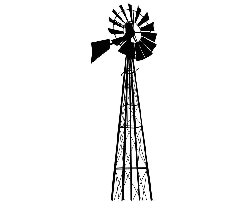 Windmill, Silhouette,SVG,Graphics,Illustration,Vector,Logo,Digital,Clipart.