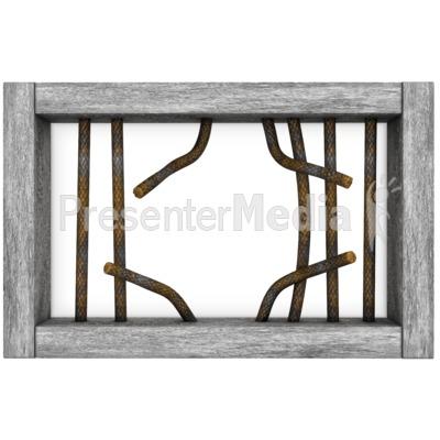 Jail Window Bars Broken.
