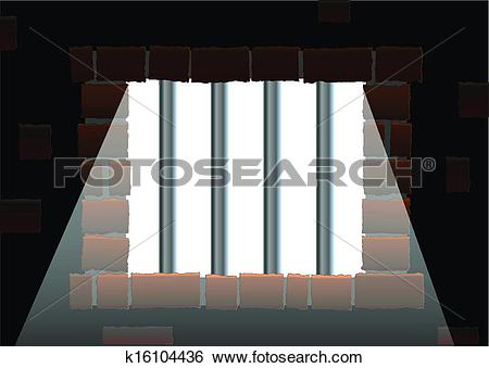 Clip Art of Jail Bars k16104436.
