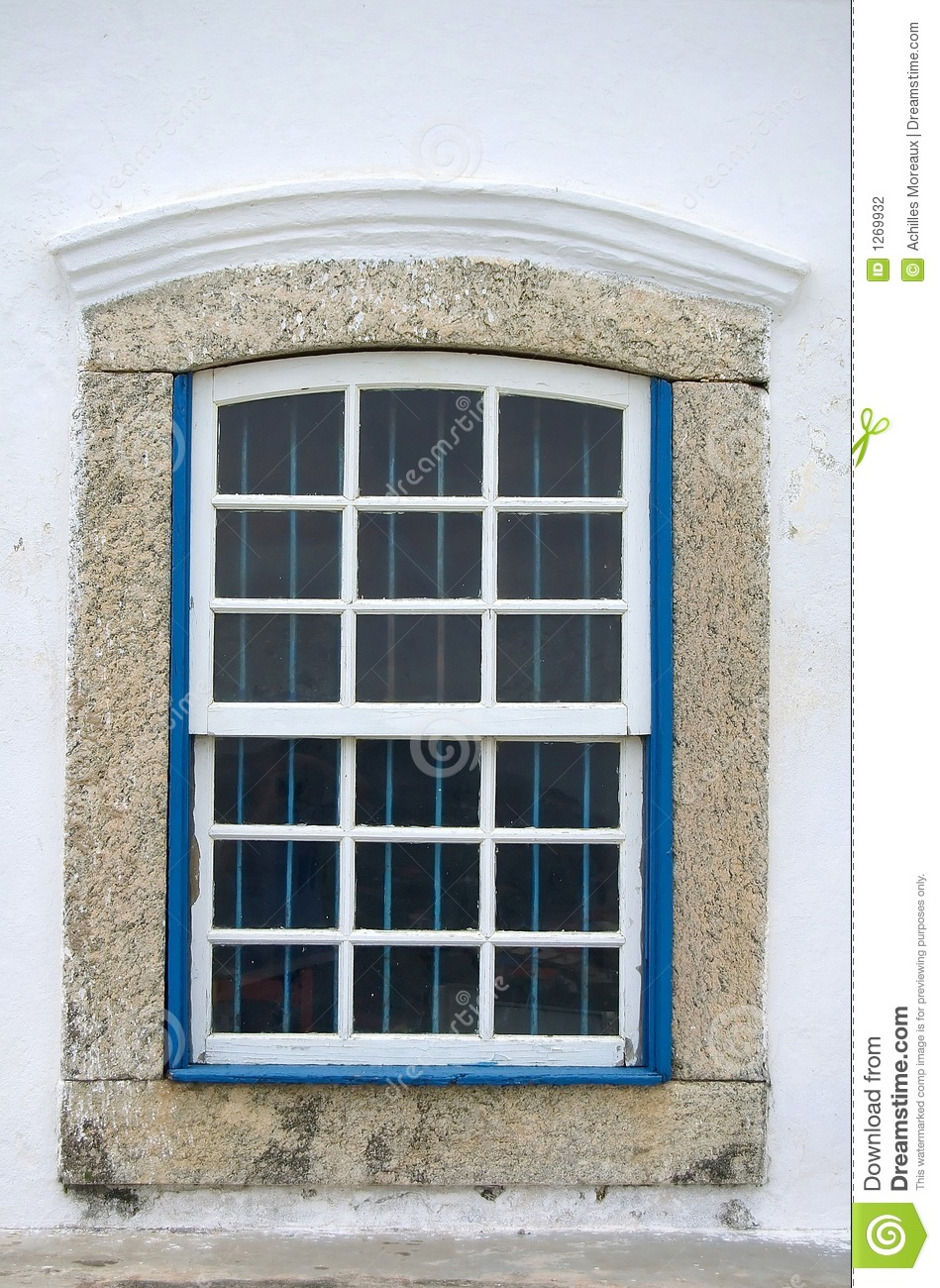 White Wooden Bars On Window Stock Photography.