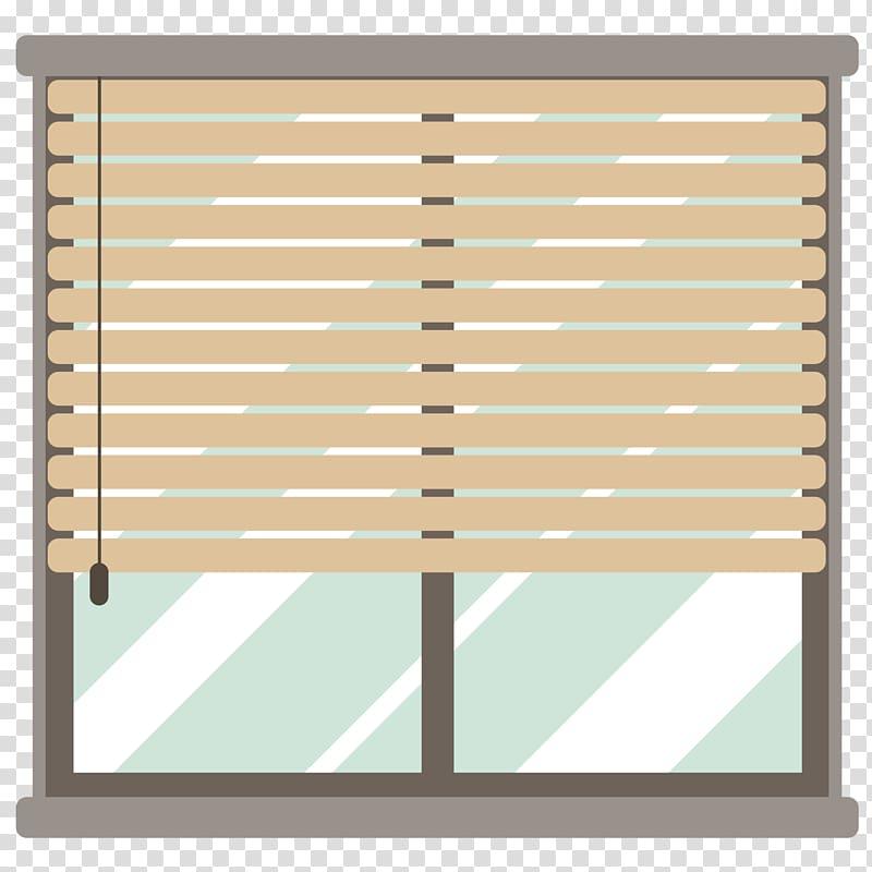 Window blind Curtain Flat design, Flat window transparent.