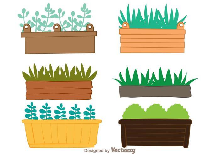 Window Planter Vectors.