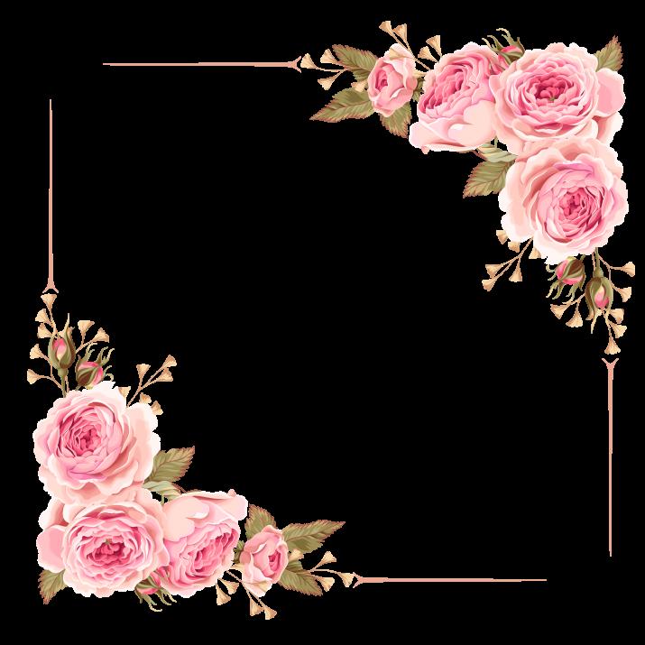 Flower Border, Flower Clipart, Frame, Border PNG.