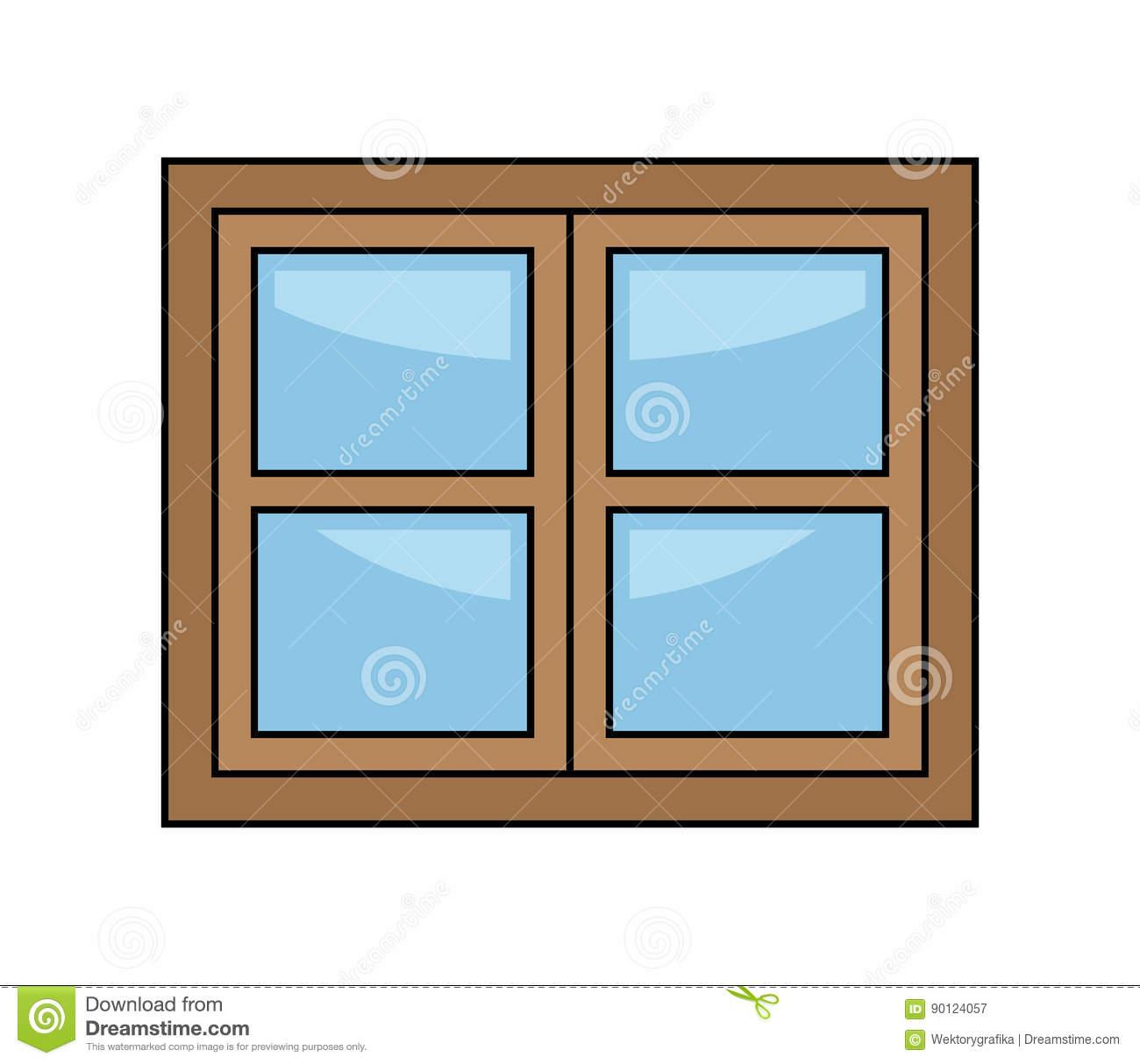 Window Cartoon Vector Symbol Icon Design. Stock Vector.