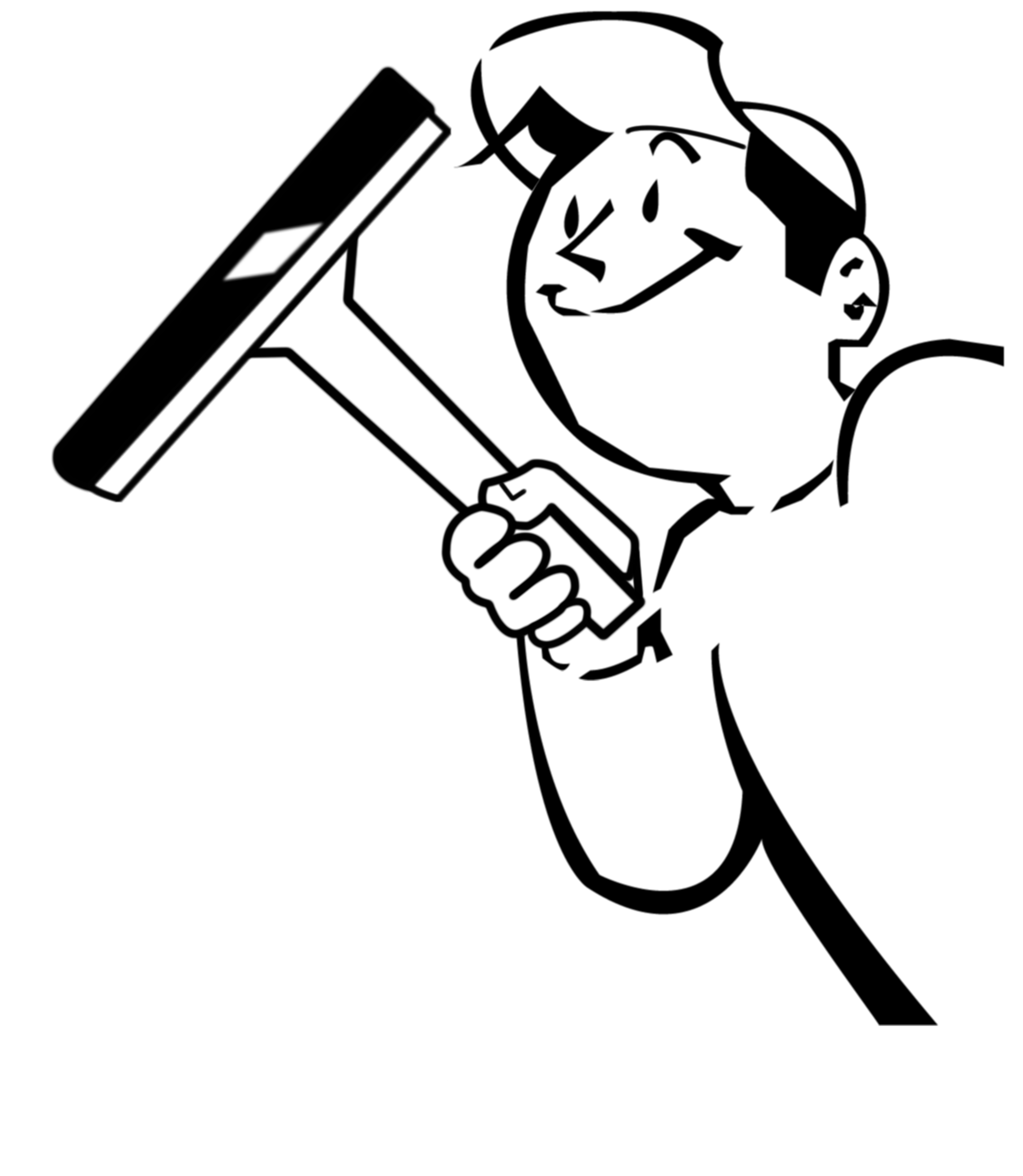 Window Cleaner Clip Art.