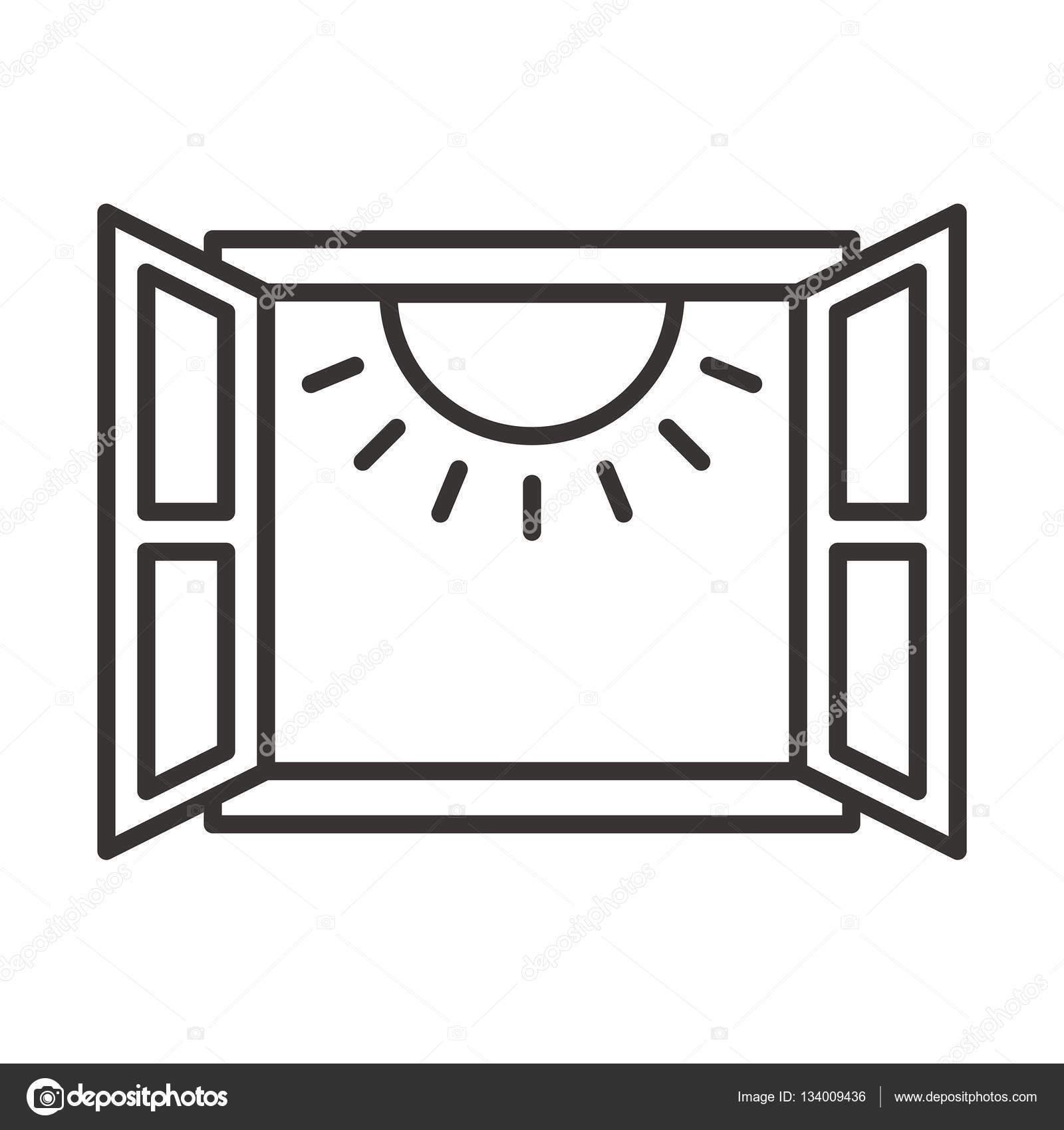 Open window clipart black and white 2 » Clipart Portal.