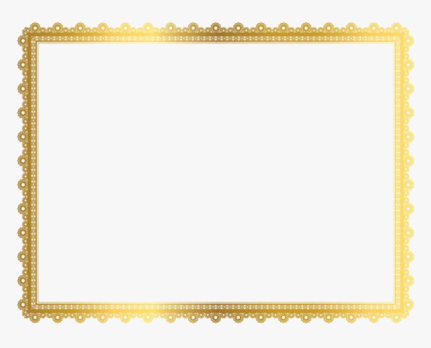 Gold Border Frame Png Clipart.
