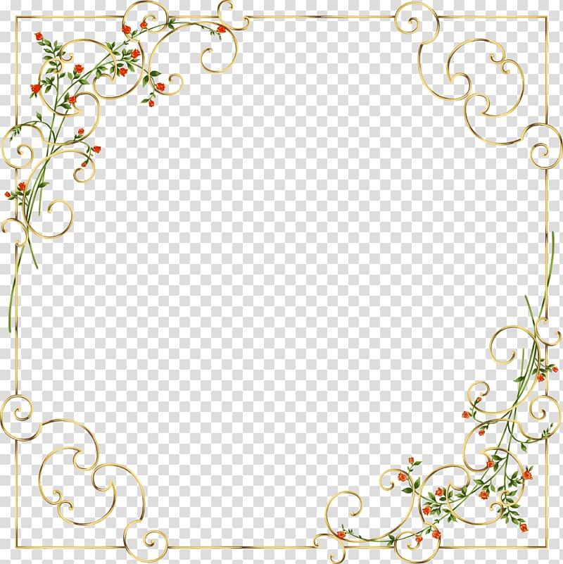 Red and brown ornate floral frame illustration, Frames.
