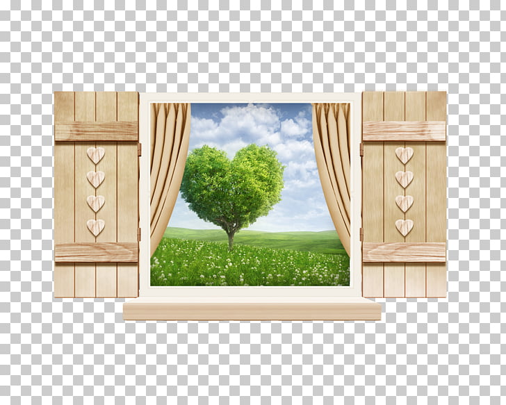 Window frame Icon, Scenery outside the window PNG clipart.