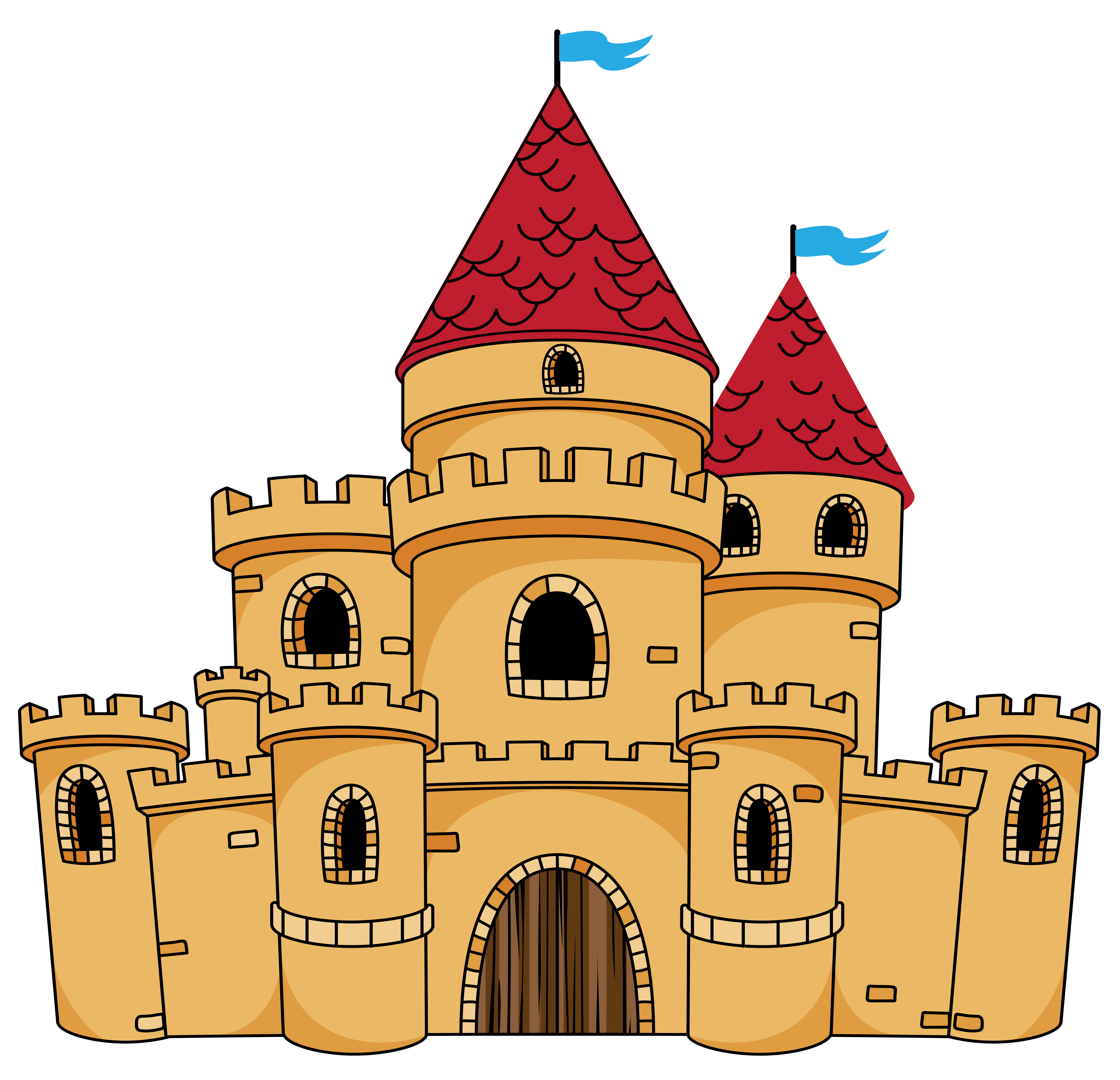 Castle Cartoon Drawing Clip art.