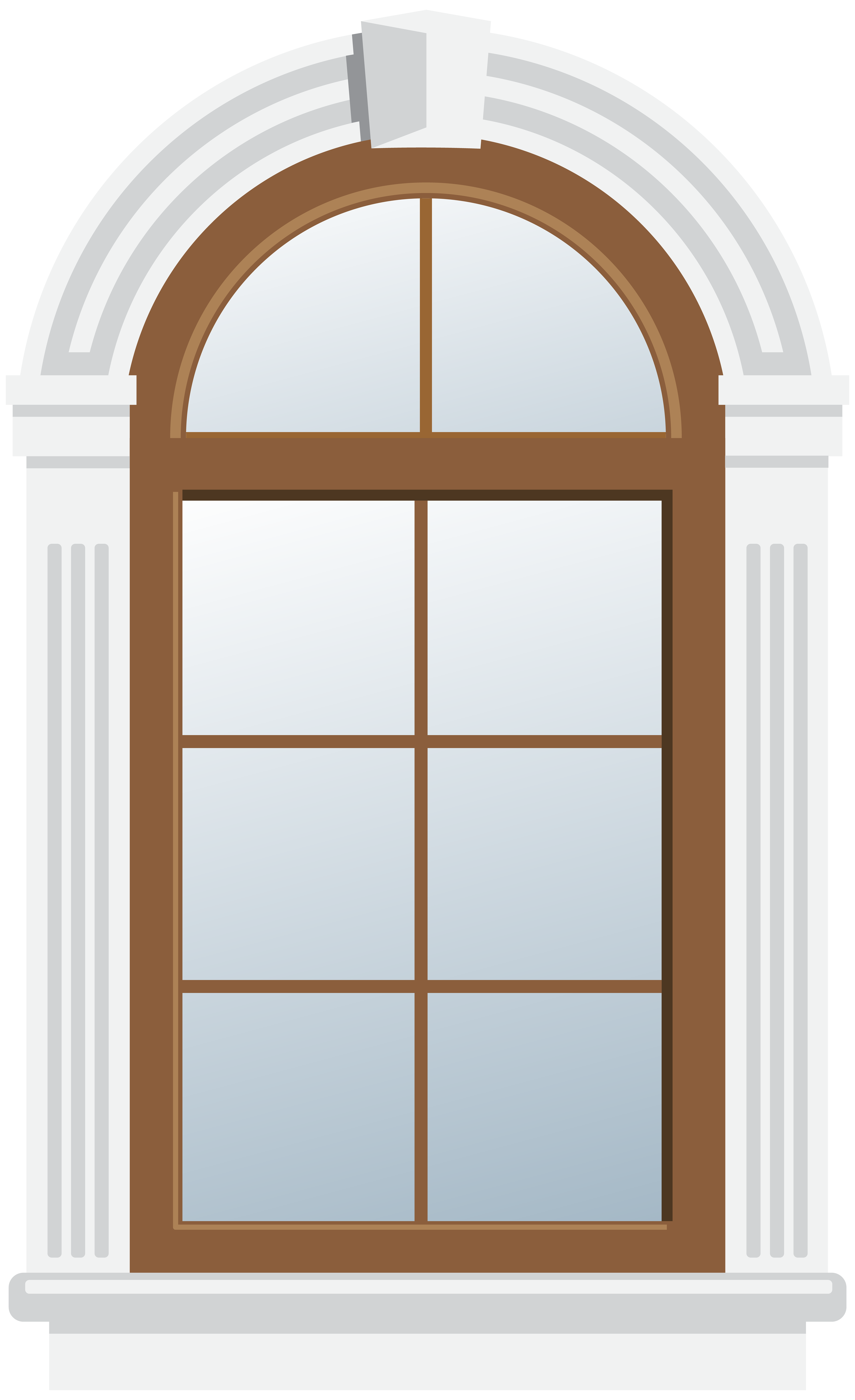 Arch Window PNG Clip Art.