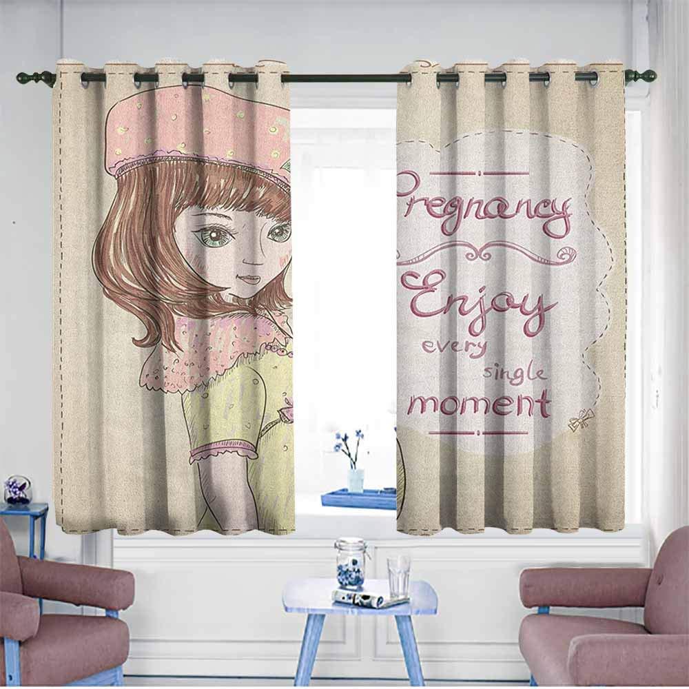 Amazon.com: HOMEDD Window Curtains,Quotes Pregnancy Enjoy.