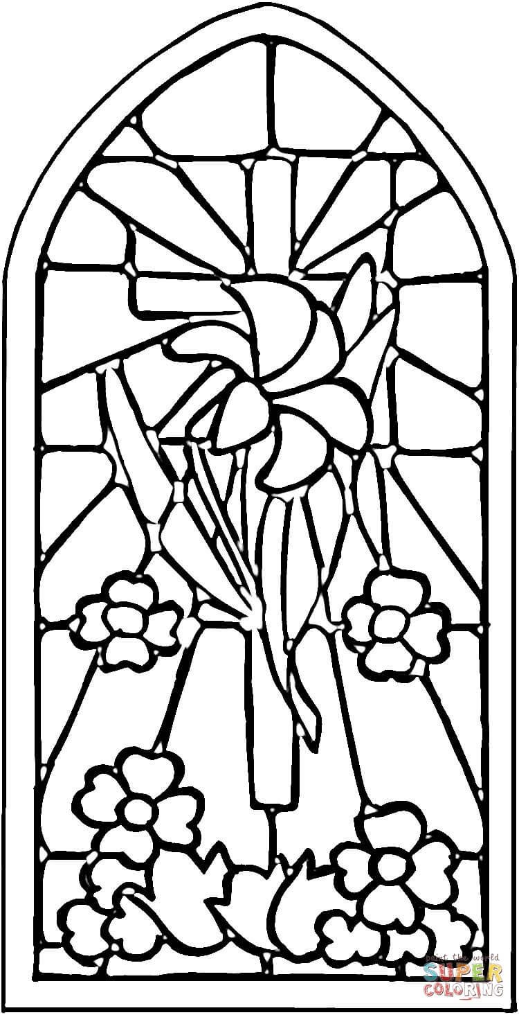 Stained Glass Window coloring page.